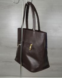Комбинированная сумка Кисточка «Два крокодила»