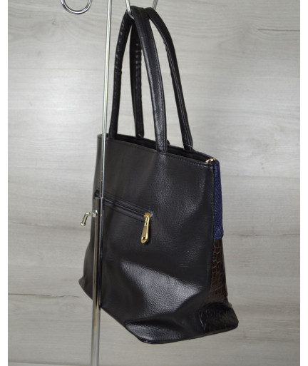 Комбинированная сумка Кисточка «Синяя рептилия»