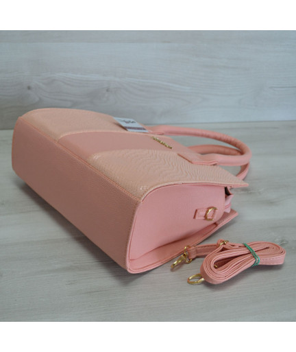 Каркасная женская сумка Селин цвета пудры