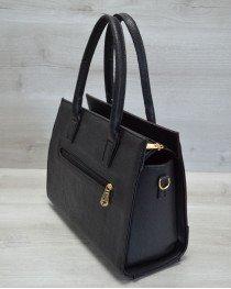 Каркасная женская сумка Селин бордовая змея с черным гладким