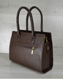 Каркасная женская сумка Селин коричневого цвета