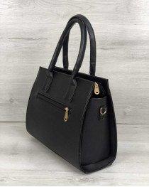 Каркасная женская сумка Селин черного цвета