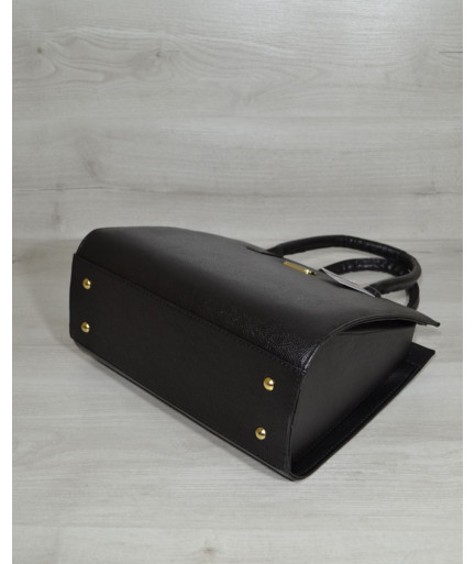 Женская сумка Бочонок черного цвета