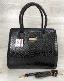 Женская сумка Бочонок черная кобра