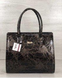 Женская сумка Бочонок мраморного цвета