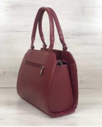 Женская сумка Конверт бордового цвета