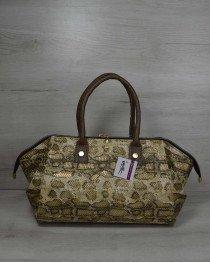 Классическая женская сумка Оливия золотая змея
