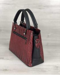 Стильная женская сумка Грана красный крокодил