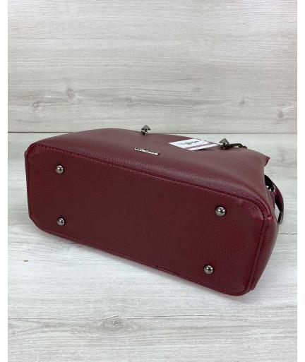 Женская сумка «Грана» бордовая