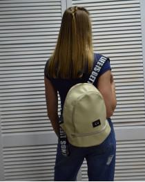 Молодежный рюкзак «Нашивка» бежевого цвета