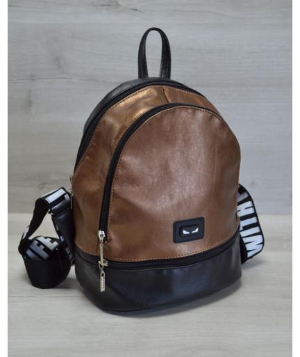 Молодежный рюкзак «Нашивка» бронзового цвета