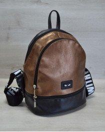 Молодежный женский рюкзак «Нашивка» бронзового цвета