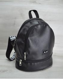 Молодежный рюкзак «Нашивка» черного цвета