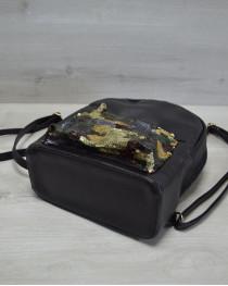 Молодежный рюкзак «Пайетки»  военные