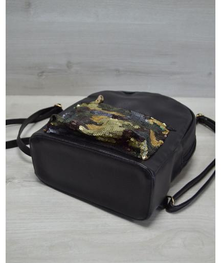 Молодежный рюкзак «Пайетки»военные