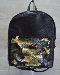 Молодежный рюкзак «Пайетки» хаки