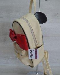 Женский городской рюкзак «Мики» бежевый