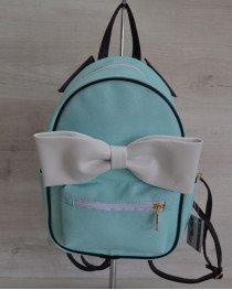 Городской женский рюкзак «Мики» бирюзовый