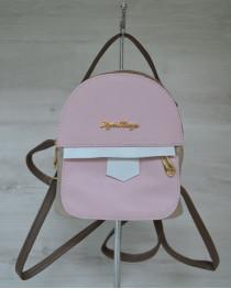 Маленький женский рюкзак розового цвета