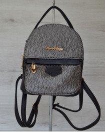 Маленький женский рюкзак черного цвета