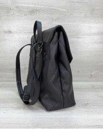 Рюкзак сумка стеганый черный