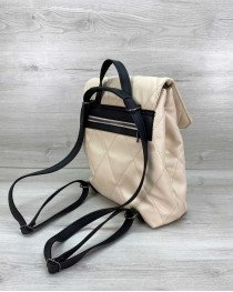 Рюкзак стеганый бежевый
