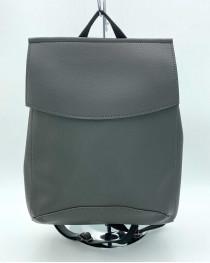 Молодежный женский рюкзак сумка серый
