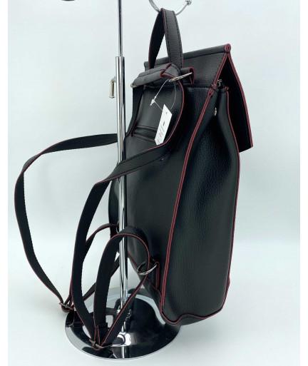 Молодежный сумка-рюкзак черного с краснымцвета
