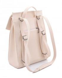 Молодежный сумка-рюкзак бежевого  цвета