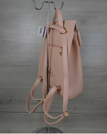 Молодежный сумка-рюкзак пудрового  цвета