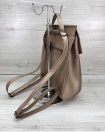 Женский сумка рюкзак золотого  цвета (никель)