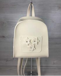 Женский рюкзак «Цветы» бежевый