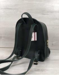 Молодежный рюкзак Бонни с пушком зеленого цвета