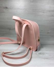 Молодежный рюкзак «Бонни» с паетками пудрового цвета