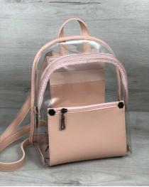 Рюкзак «Бонни» пудра (прозрачный)