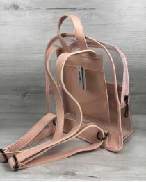 Молодежный рюкзак Бонни пудра с силиконом (прозрачный)