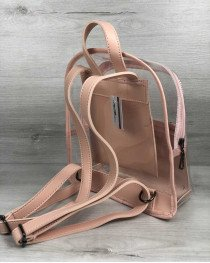 Рюкзак «Бонни» силиконовый прозрачный (пудра)