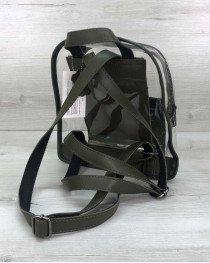 Молодежный рюкзак «Бонни»  оливковый (полупрозрачный)