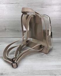 Женский рюкзак «Бонни»  силиконовый бежевый