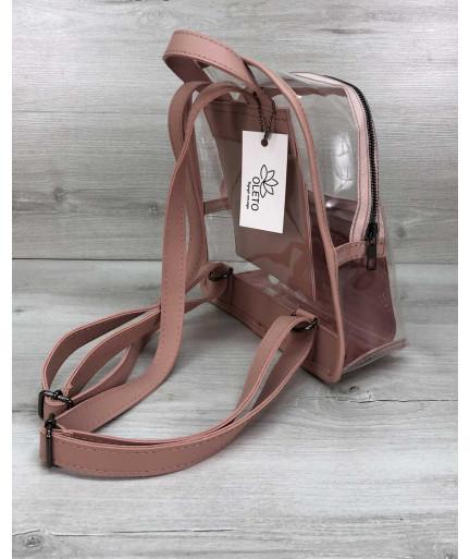 Силиконовый рюкзак «Бонни» с принтом персик