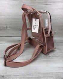 Женский рюкзак «Бонни» силиконовый персик