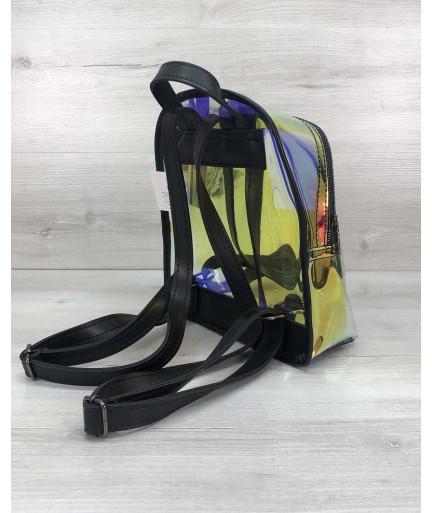 Перламутровый рюкзак Бонни черный (полупрозрачный)