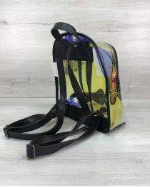 Женский рюкзак «Бонни» черный перламутровый  (полупрозрачный)