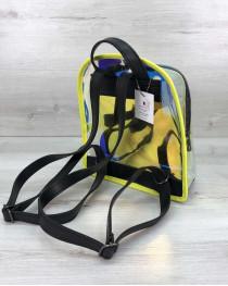 Женский рюкзак «Бонни» желтый перламутровый