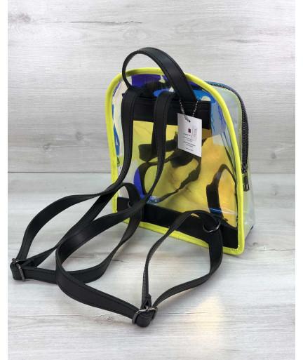 Перламутровый рюкзак Бонни желтый (полупрозрачный)