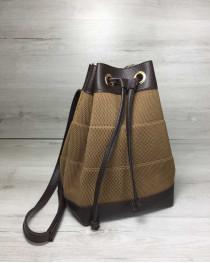 Молодежный сумка-рюкзак Резинка кофейного цвета