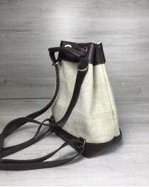 Женский сумка рюкзак «Резинка» бежевый