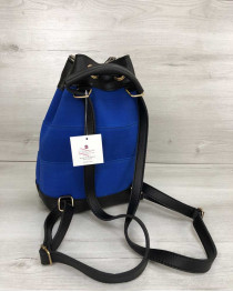 Молодежный сумка-рюкзак Резинка электрик