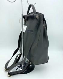 Молодежный сумка-рюкзак Сердце серого цвета