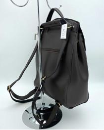 Молодежный сумка-рюкзак Сердце шоколадного цвета